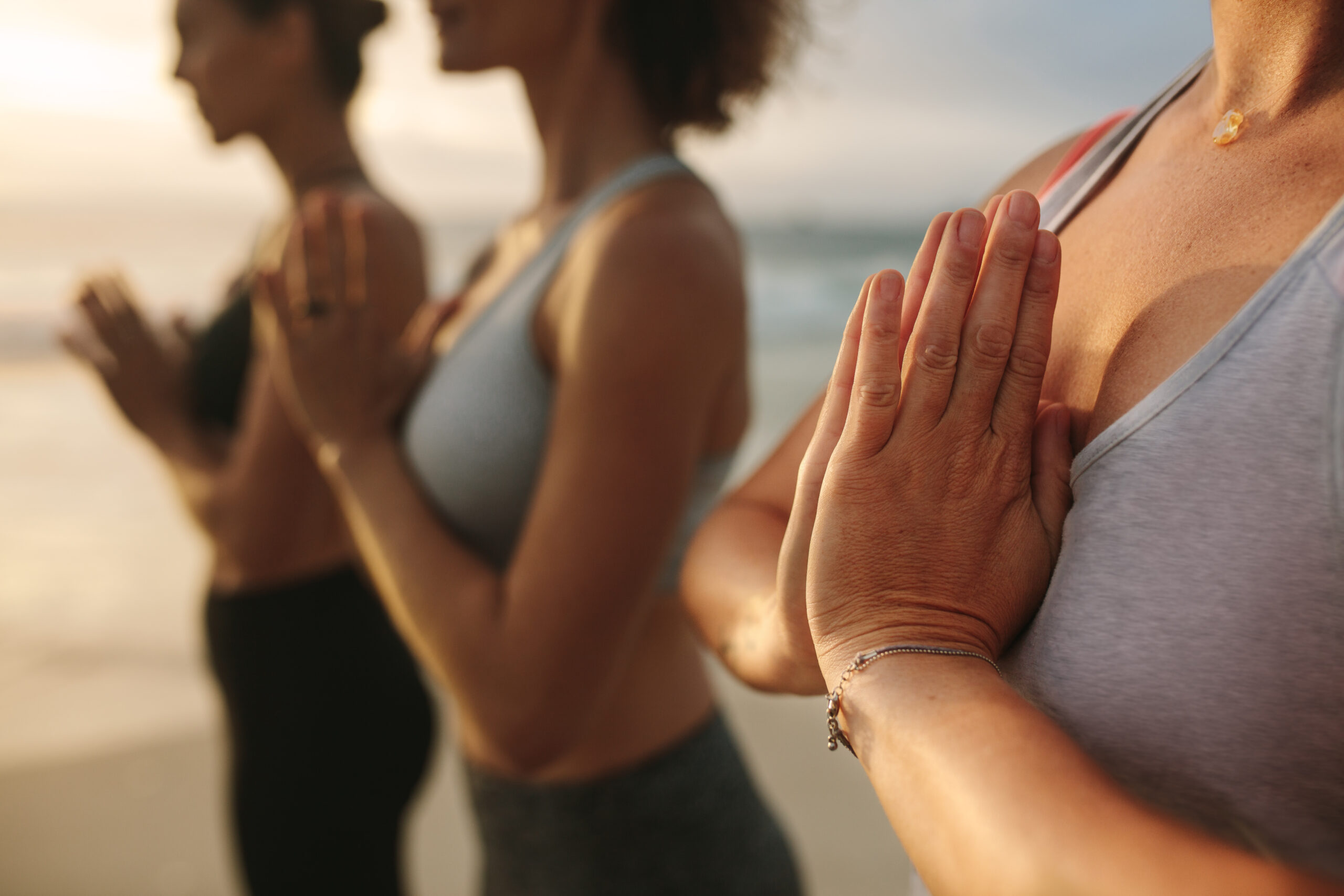 Yoga en mer